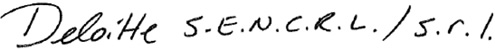 Deloitle LLP signature